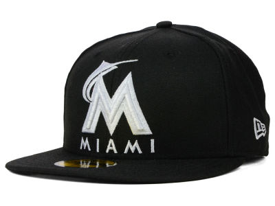 Miami Marlins MLB B-Dub 59FIFTY Cap Hats