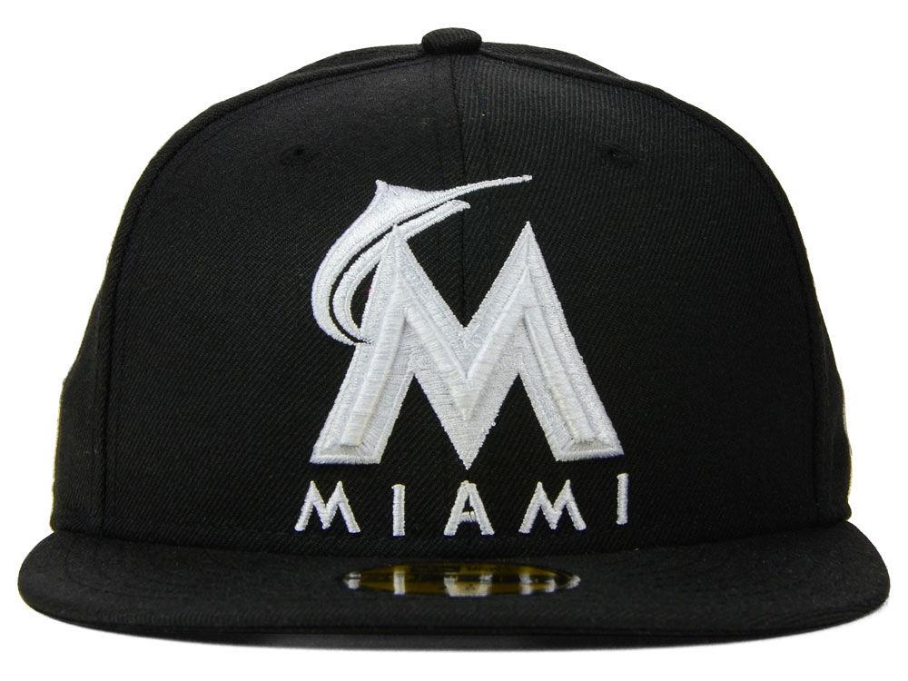 promo code a7072 68910 ... real miami marlins new era mlb b dub 59fifty cap high quality 517b9  d9cd4