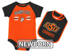 Oklahoma State Cowboys Colosseum NCAA Newborn Dribble Creeper and Bib Set Infant Apparel