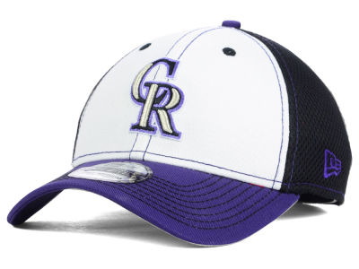 Colorado Rockies MLB White Front Neo 39THIRTY Cap Hats