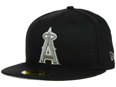 Los Angeles Angels MLB Black Graphite 59FIFTY Cap Hats