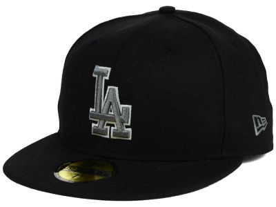 Los Angeles Dodgers MLB Black Graphite 59FIFTY Cap Hats