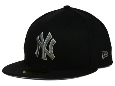 New York Yankees MLB Black Graphite 59FIFTY Cap Hats