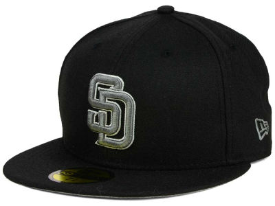 San Diego Padres MLB Black Graphite 59FIFTY Cap Hats