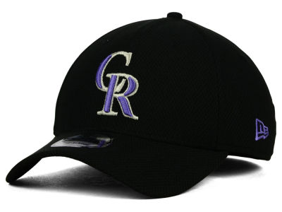 Colorado Rockies MLB Diamond Era Black 39THIRTY Cap Hats