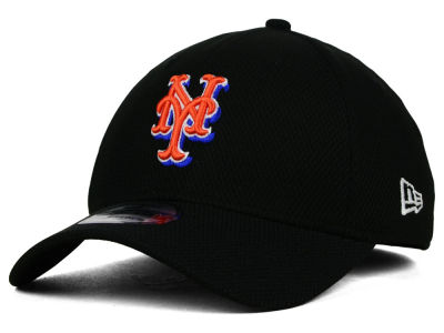 New York Mets MLB Diamond Era Black 39THIRTY Cap Hats