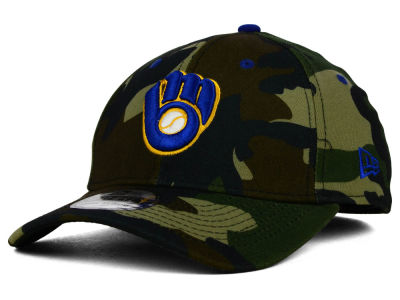 Milwaukee Brewers MLB Camo Classic 39THIRTY Cap Hats