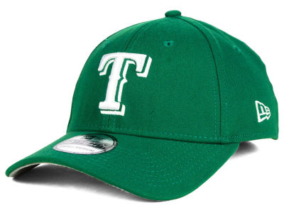 Texas Rangers MLB St. Patty Classic 39THIRTY Cap Hats