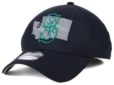 Seattle Mariners MLB State Flective 39THIRTY Cap Hats