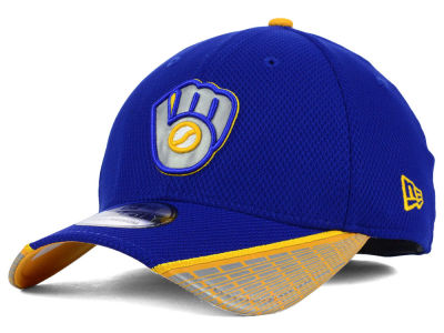 Milwaukee Brewers MLB Reflective Slugger Diamond Era 39THIRTY Cap Hats