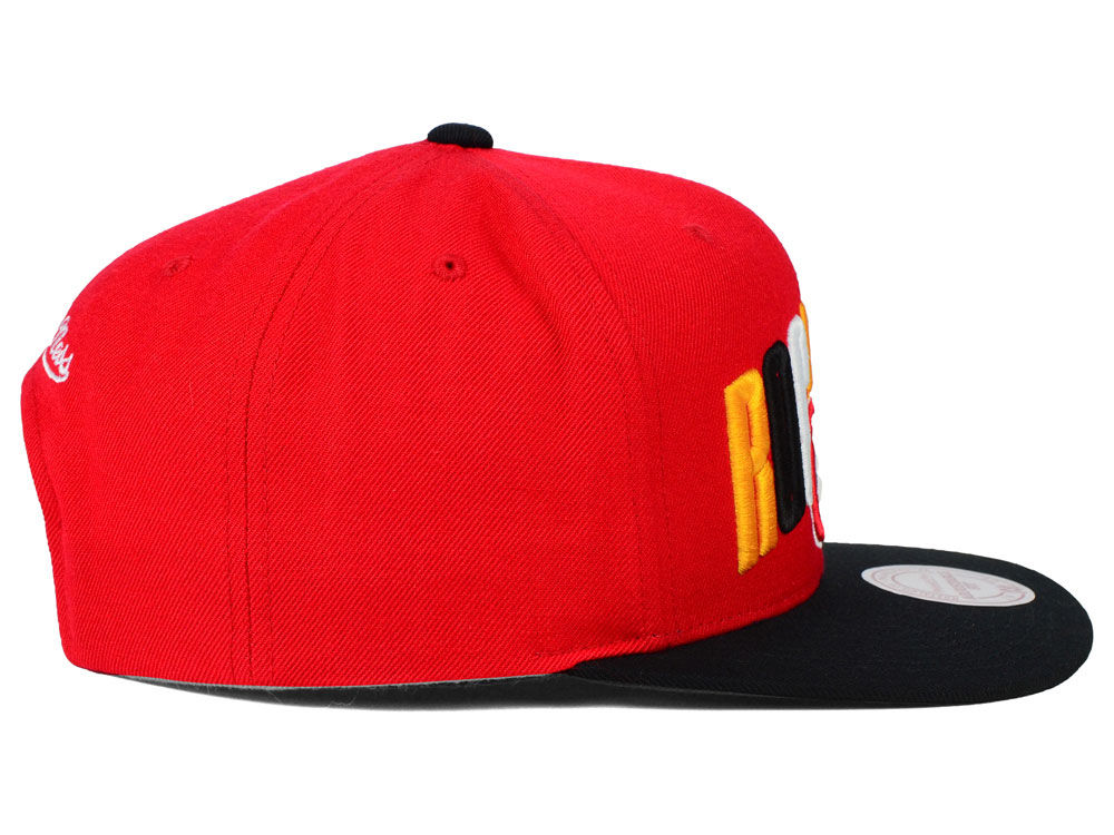 new arrival dbc10 f8a6f ... get durable service houston rockets mitchell and ness nba big poppin snapback  cap 1ef53 2afb2
