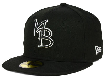 Myrtle Beach Pelicans MiLB Black and White 59FIFTY Cap Hats