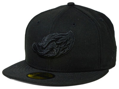 Akron Rubber Ducks MiLB Black on Black 59FIFTY Cap Hats