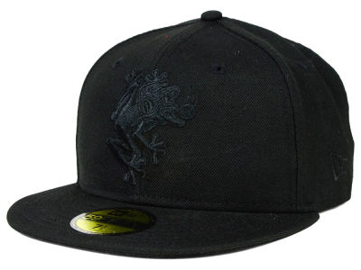 Everett AquaSox MiLB Black on Black 59FIFTY Cap Hats