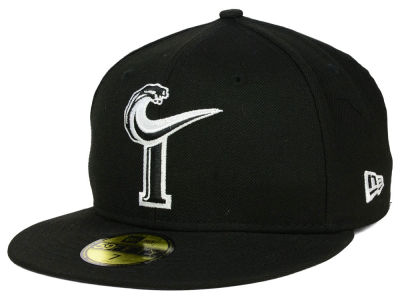 Norfolk Tides MiLB Black and White 59FIFTY Cap Hats