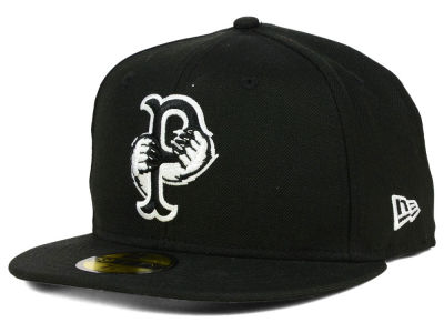 Pawtucket Red Sox MiLB Black and White 59FIFTY Cap Hats