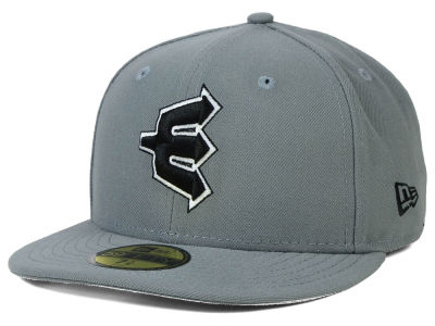 Everett AquaSox MiLB Gray Black White 59FIFTY Cap Hats