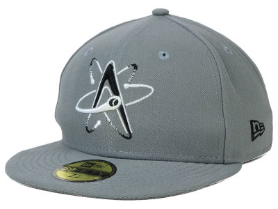 Albuquerque Isotopes MiLB Gray Black White 59FIFTY Cap Hats