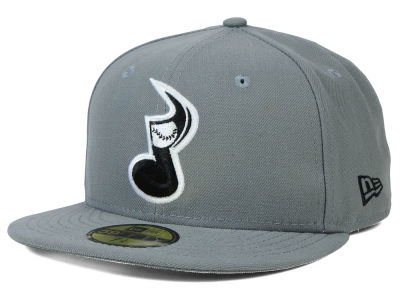 Nashville Sounds MiLB Gray Black White 59FIFTY Cap Hats