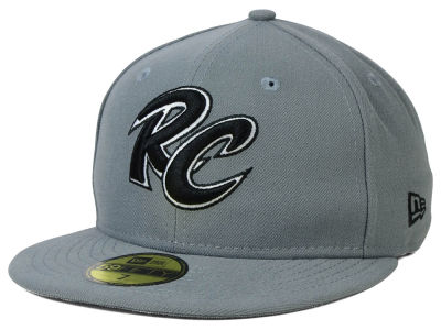 Sacramento River Cats MiLB Gray Black White 59FIFTY Cap Hats