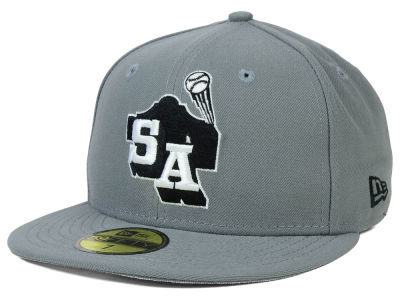San Antonio Missions MiLB Gray Black White 59FIFTY Cap Hats