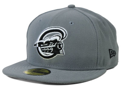 Syracuse Chiefs MiLB Gray Black White 59FIFTY Cap Hats