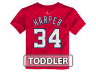Washington Nationals Bryce Harper Majestic MLB Toddler Official Player T-Shirt T-Shirts
