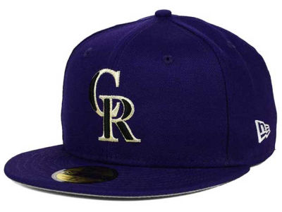 Colorado Rockies MLB Anniversary Patch 59FIFTY Cap Hats