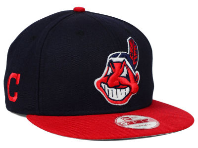 Cleveland Indians MLB 2 Tone Link 9FIFTY Snapback Cap Hats