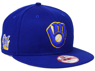 Milwaukee Brewers MLB 2 Tone Link 9FIFTY Snapback Cap Hats