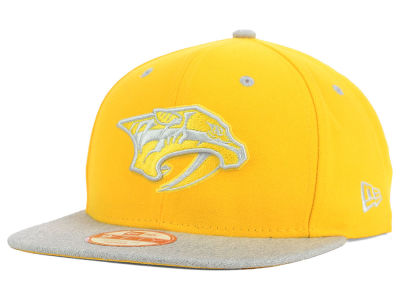 Nashville Predators NHL Team Color Pop Heather 9FIFTY Snapback Cap Hats