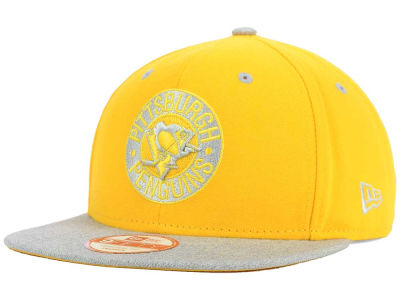 Pittsburgh Penguins NHL Team Color Pop Heather 9FIFTY Snapback Cap Hats
