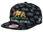 California All Over Bear 9FIFTY Snapback Cap Adjustable Hats