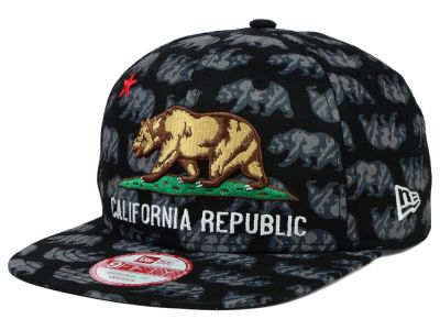California All Over Bear 9FIFTY Snapback Cap Hats