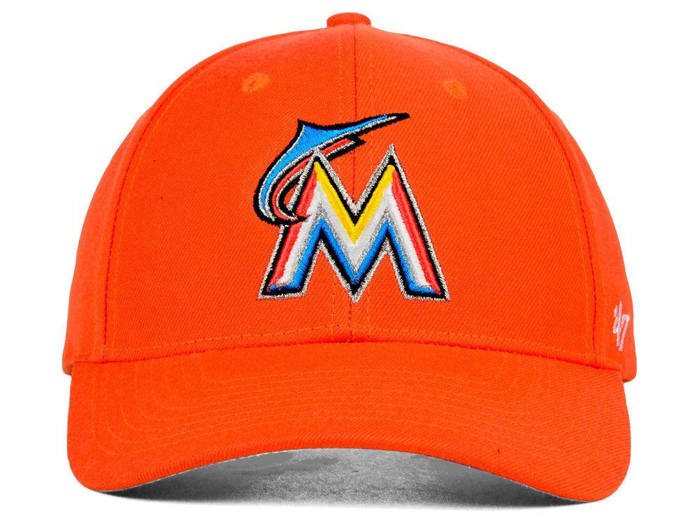 super popular ebb50 44f6d 50%OFF Miami Marlins  47 MLB  47 MVP Cap