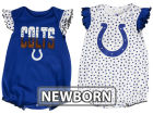 Indianapolis Colts Outerstuff NFL Newborn Polka Fan 2 Piece Creeper Set Infant Apparel
