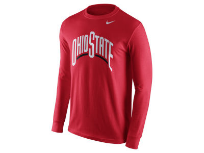 Nike NCAA Men's Cotton Wordmark Long Sleeve T-Shirt