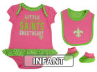 New Orleans Saints Outerstuff NFL Infant Little Sweet Bib & Bootie Set Infant Apparel