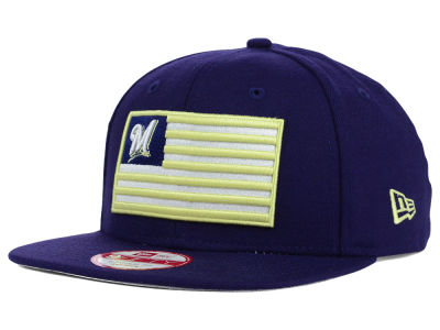 Milwaukee Brewers MLB Team Merica 9FIFTY Snapback Cap Hats