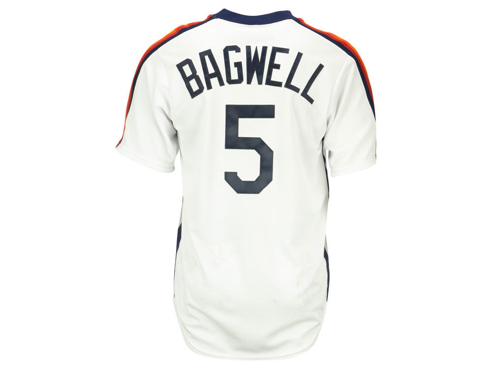 fefd6361a97 Houston Astros Jeff Bagwell Majestic MLB Men s Cooperstown Player Replica  CB Jersey 85%OFF