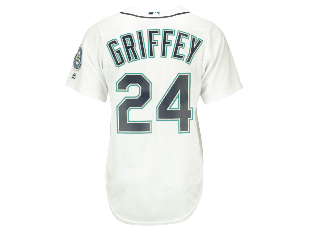 24b18aad7f Seattle Mariners Ken Griffey Jr. Majestic MLB Men's Cooperstown Player  Replica CB Jersey delicate
