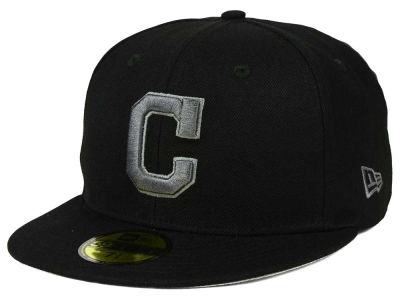 Cleveland Indians MLB Black Graphite 59FIFTY Cap Hats