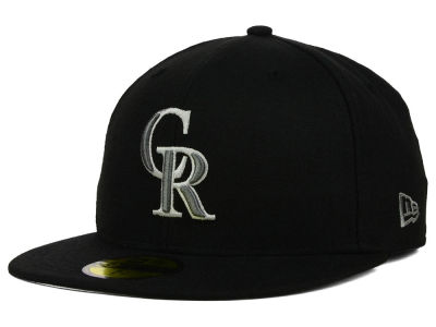 Colorado Rockies MLB Black Graphite 59FIFTY Cap Hats