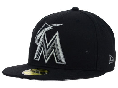 Miami Marlins MLB Black Graphite 59FIFTY Cap Hats