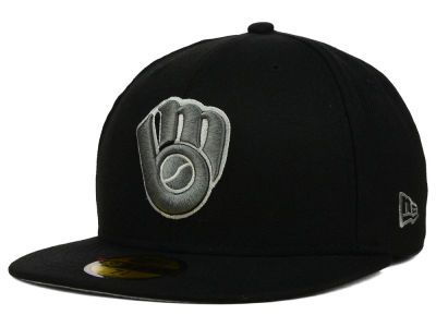 Milwaukee Brewers MLB Black Graphite 59FIFTY Cap Hats