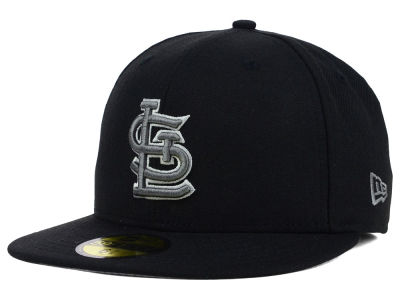St. Louis Cardinals MLB Black Graphite 59FIFTY Cap Hats