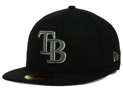 Tampa Bay Rays MLB Black Graphite 59FIFTY Cap Hats