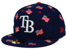 Tampa Bay Rays New Era MLB All Flags 59FIFTY Cap Fitted Hats