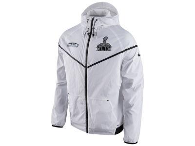 Seattle Seahawks Nike NFL Men s Super Bowl XLIX Tech Windrunner Sideline  Jacket  a1a827286