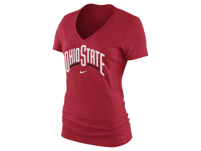 Nike NCAA Women's Arch Cotton Mid V-Neck T-Shirt